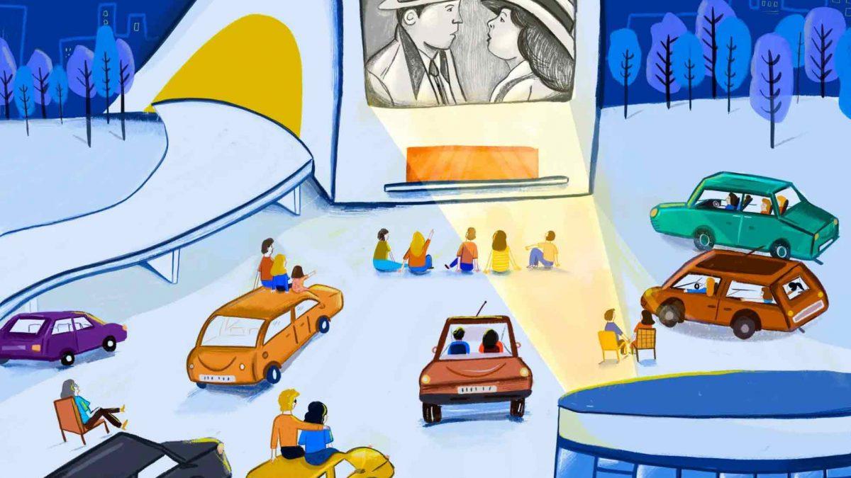 La Plaza del Centro Niemeyer se transforma en un autocine