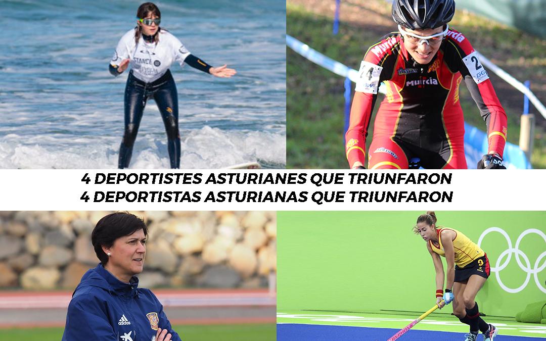 4 deportistas asturianas que triunfaron