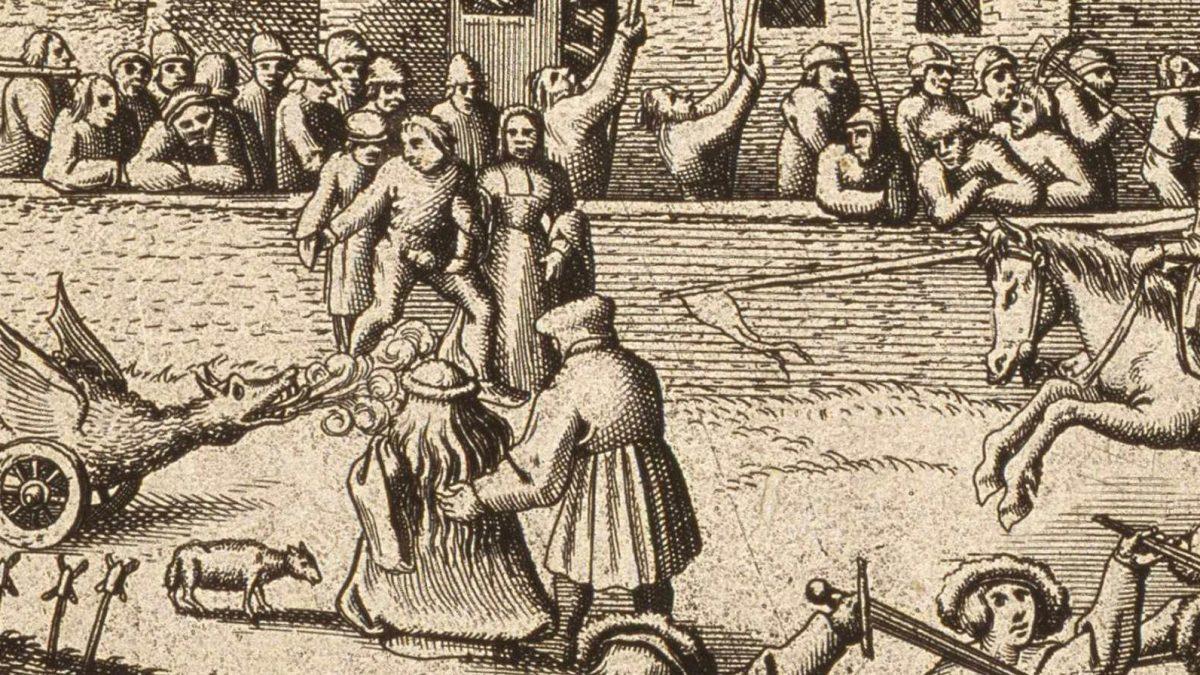 23 d'abril: San Xurde, les Flores, el cuélebre y los green man.