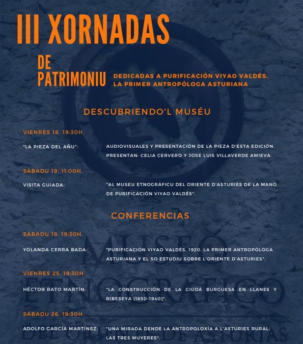 III JORNADAS DE PATRIMONIO en el Museo Etnográfico del Oriente de Asturies