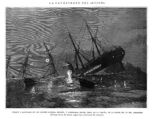 La tragedia del 'Gijón', buque asturiano