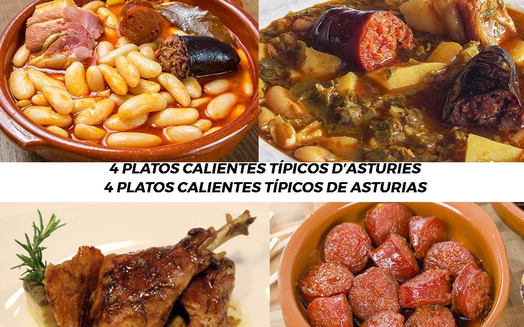 4 Platos de comida caliente típicos de Asturies